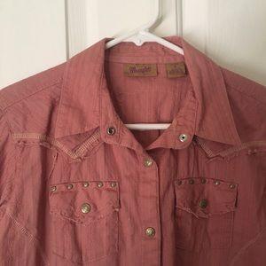 Women's long sleeve Wrangler Button Shirt